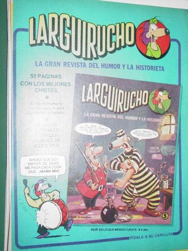 publicidad revista de historietas larguirucho modelo 1
