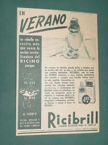 publicidad - ricibrill fijador para el cabello revitaliza