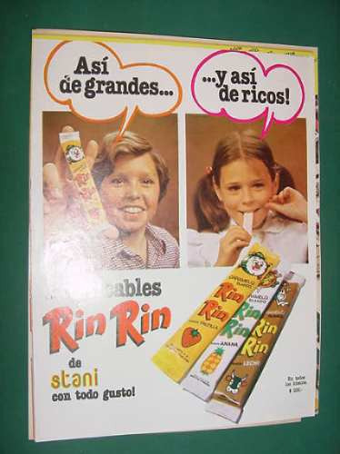 publicidad - rin rin caramelos masticables stani todo gusto