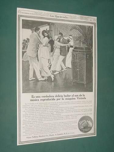 publicidad rural 1920 victrola baile victor talking machine