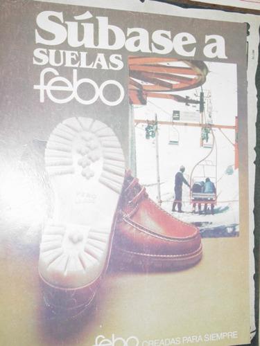 publicidad suelas febo zapatos creadas para siempre
