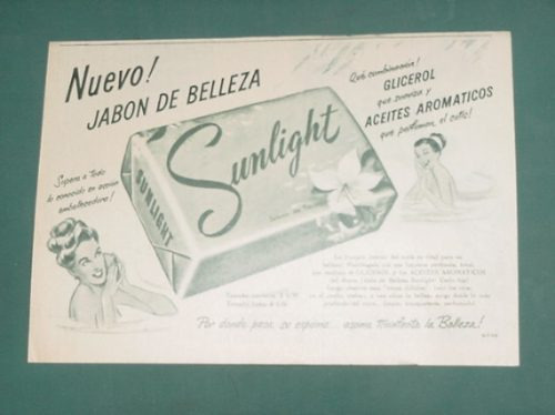 publicidad- sunlight con glicerol suaviza aceites aromaticos