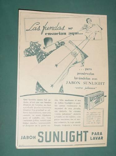 publicidad - sunlight jabon de lavar extra jabonoso