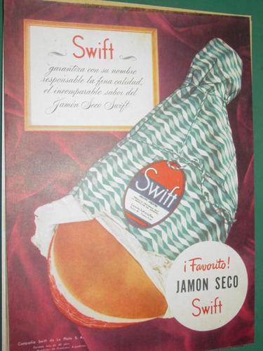 publicidad swift jamon seco swift favorito garantia