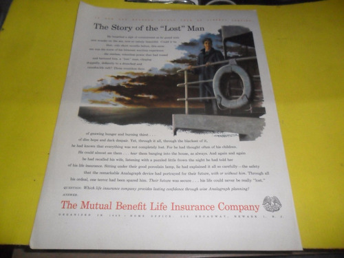 publicidad the mutual benefit life insurance company broadwa