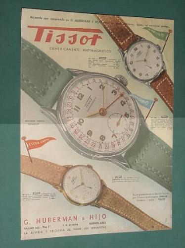 publicidad - tissot relojes cientificamente antimagneticos