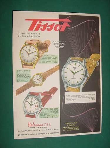 publicidad - tissot relojes visodate oro 18k antimagneticos