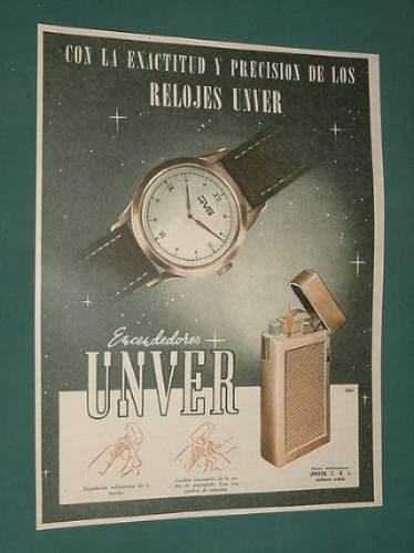 publicidad - unver relojes encendedores exactitud precision