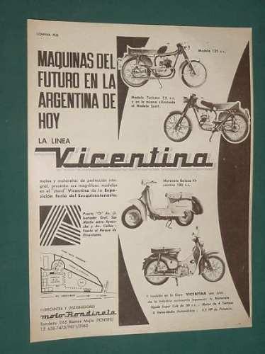 publicidad - vicentino motonetas maquinas del futuro 75cc