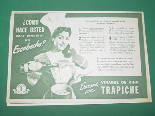 publicidad vinagre de vino trapiche receta escabeche