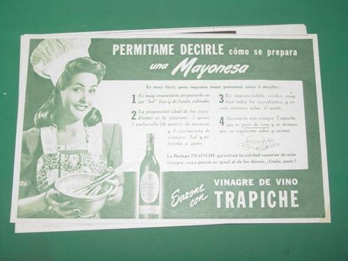 publicidad vinagre de vino trapiche receta mayonesa