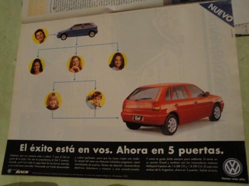 publicidad volkswagen gol 5p año 1997