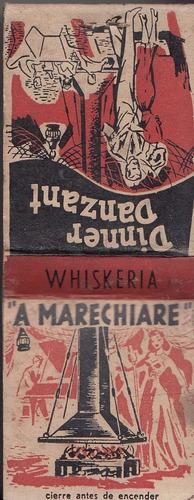 publicidad whiskeria a marechiare punta gorda caja fosforos