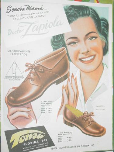 publicidad zapatos calzados tonsa señora mama doctor zapiola