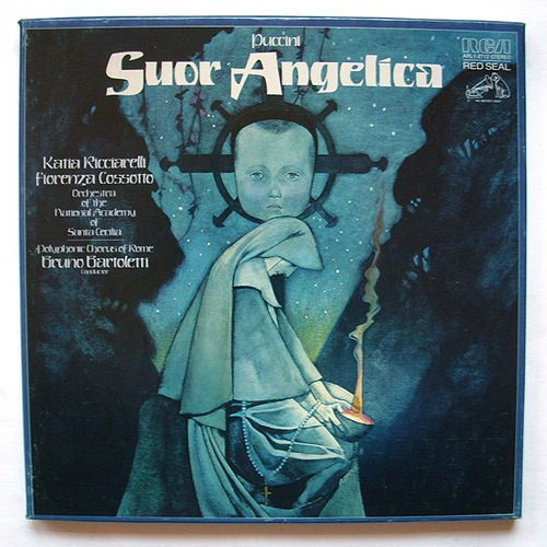 puccini: suor angelica  - caja 1 lp y  libreto- importado
