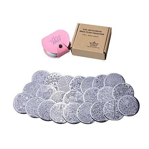 pueen nail art stamp collection set 24b-l stamping buffet -