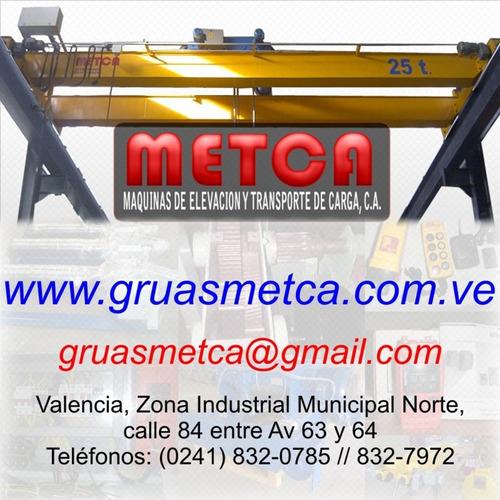 puente grua winche y polipasto electrico de guaya y cadena