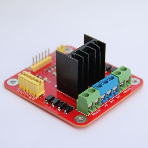 puente h doble l298n control motor arduino, pic, avr,