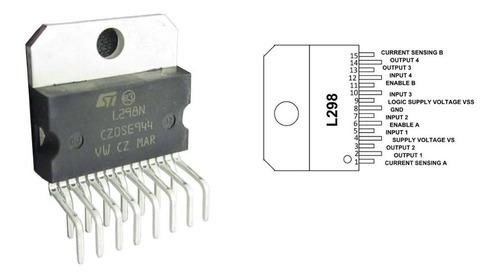 puente h l298n proyectos arduino pic microcontrolador