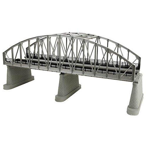 puente mth 40-1107 o 2-track de plata de acero arch