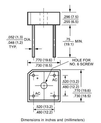 puente rectificador kbpc1010