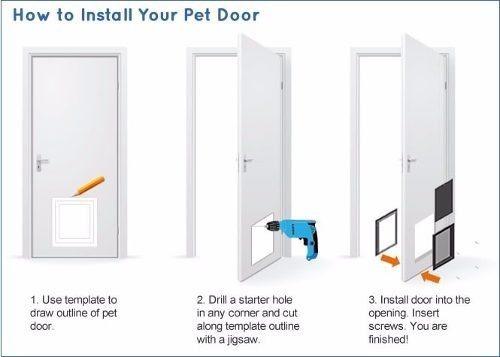 puerta abatible interiores talla s perros y gatos pethome