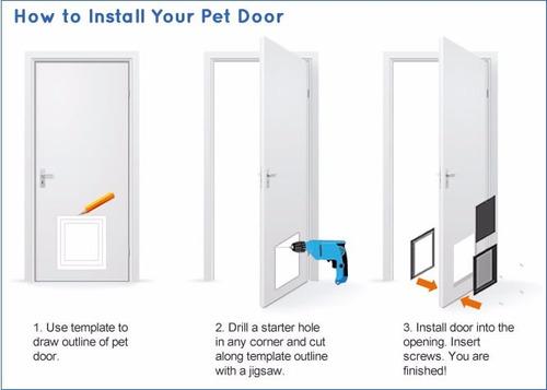 puerta abatible talla l para perros  pethome chile