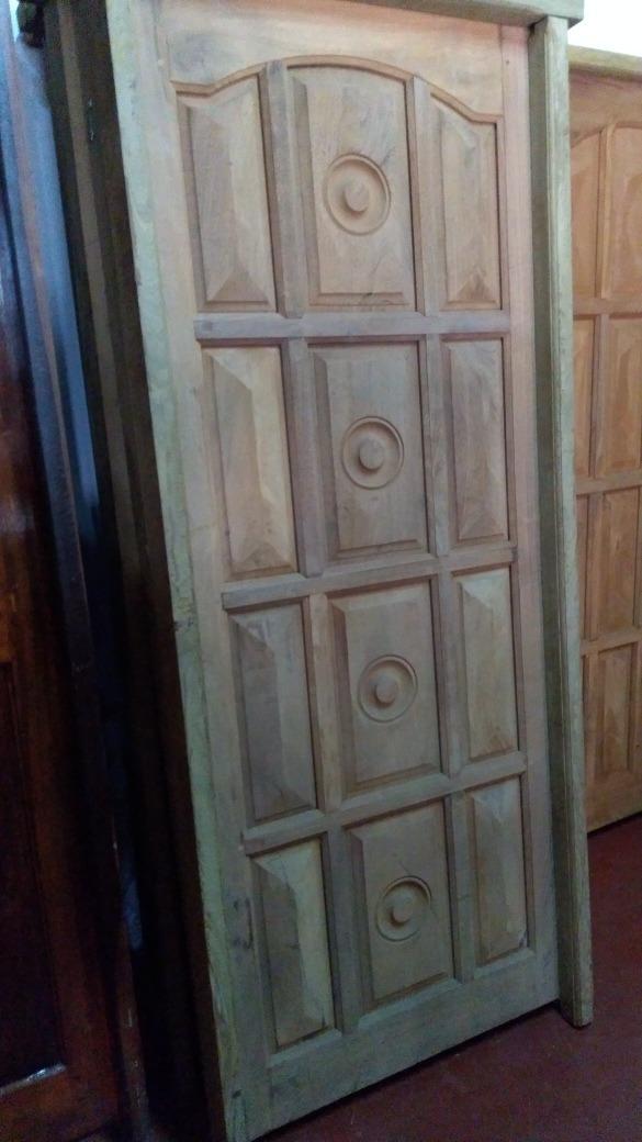 Puerta Algarrobo Marco De Lapacho Diamante - $ 5.200,00 en Mercado Libre