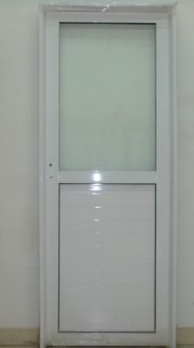 Puerta aluminio blanco 1 2 vidrio entero 90x200 c - Puertas de aluminio blanco para exterior ...
