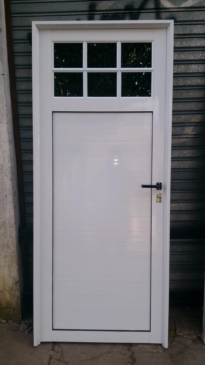 puerta aluminio blanco vidrio repartido con vidrios