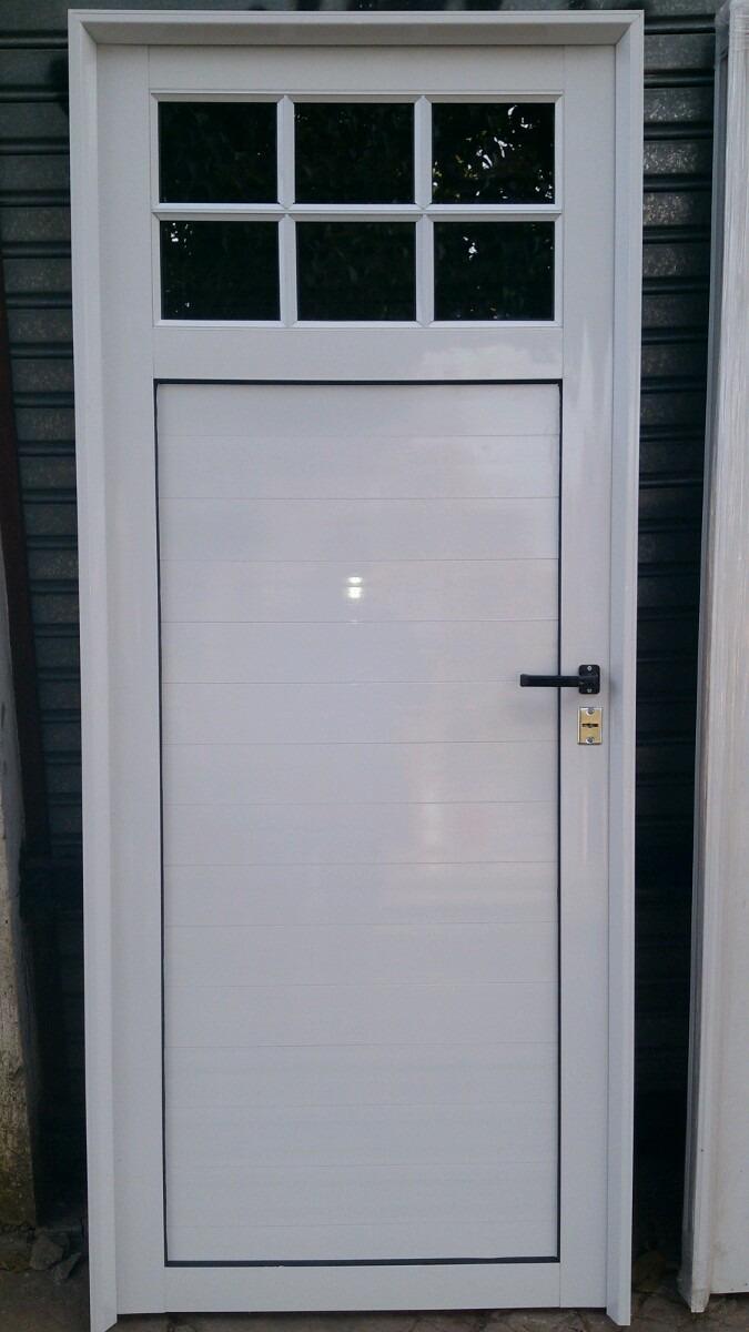Puerta Aluminio Blanco 1 4 Vidrio Repartido Con Vidrios 3 990  ~ Puertas De Exterior De Aluminio Precios
