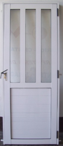 puerta aluminio blanco 800 x 2000 1/2vidrio reforzada oferta