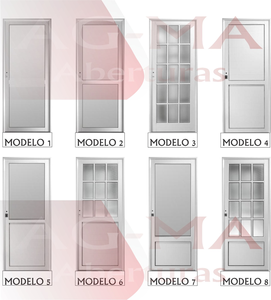 Puerta Aluminio Blanco Ciega 80x2 - $ 5.675,00 en Mercado Libre