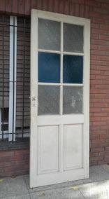 Puerta Antigua Bano Vidrio Repartido 2 17 X 82 Puerta Madera