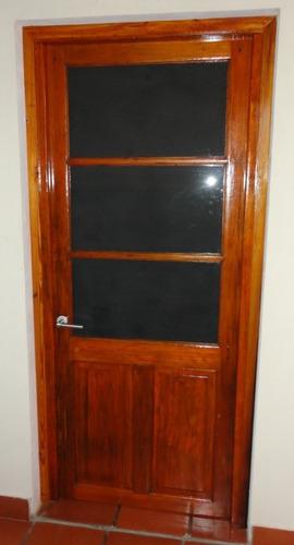 puerta antigua de cedro restaurada a nueva - impecable!!