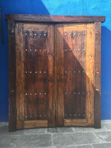 puerta antigua de madera huanacaxtle  modelo g201