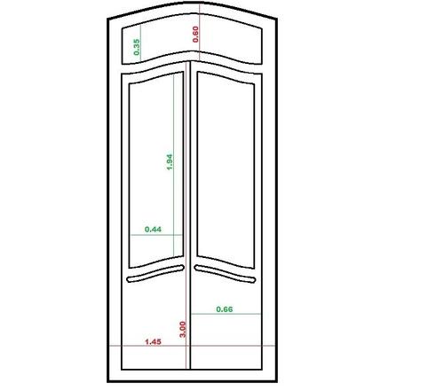 puerta antigua vaiven con vidrios biselados originales
