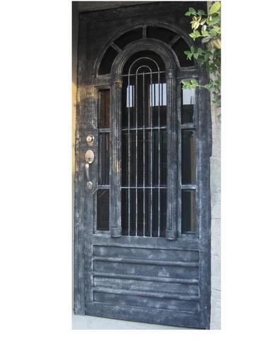 Puerta arcolumna de herreria rustica fina precio m2 for Puertas de herreria para interiores