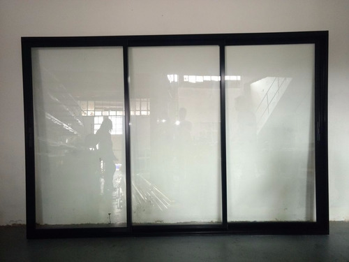 puerta balcon aluminio modena 300x200 dvh laminado, 3 guias