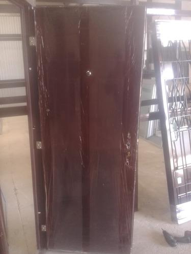 puerta blindada reforzada doble chapa con 5 trancas