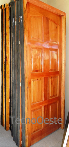 puerta cedro macizo vs/modelos marco madera 80cm con manijón