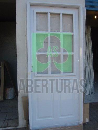 puerta chapa aberturas: