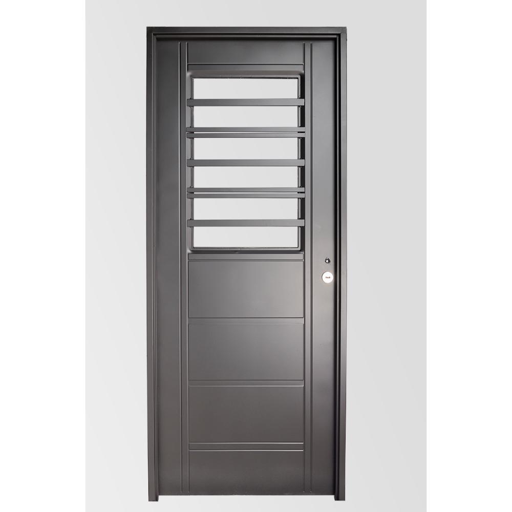 Puerta Exterior Aluminio Negra Aberturas Puertas Exteriores De  ~ Puertas De Exterior De Aluminio Precios