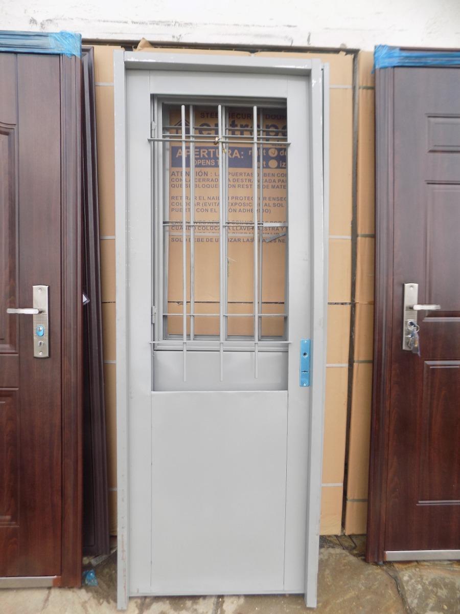 Puerta doble chapa de exterior pinar aberturas for Puertas de chapa para exterior