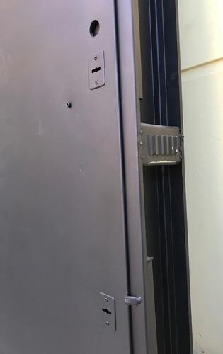 puerta chapa seguridad bunker fortaleza 2 cerraduras 70x200