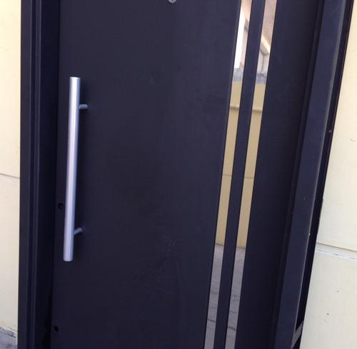 puerta chapa seguridad bunker robusta apliques acero 80x200