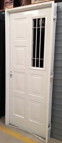 puerta  chapa simple reforzada 80x2.00 modelos varios