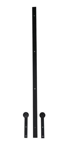 puerta corrediza colgante craftmaster con riel 92x200