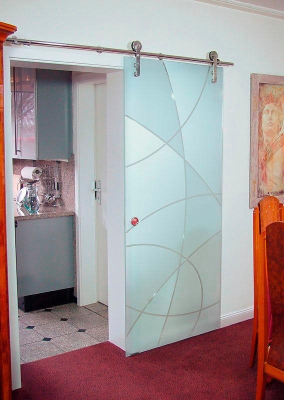 Puerta corrediza de cristal templado 11 en for Puertas de cristal templado