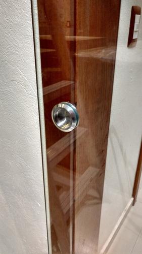 puerta corrediza de cristal templado